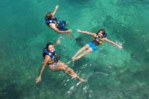 Turistas en la Riviera Maya