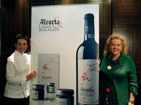 La chef Carme Ruscalleda y la enóloga de Domecq Bodegas, Elena Adell.