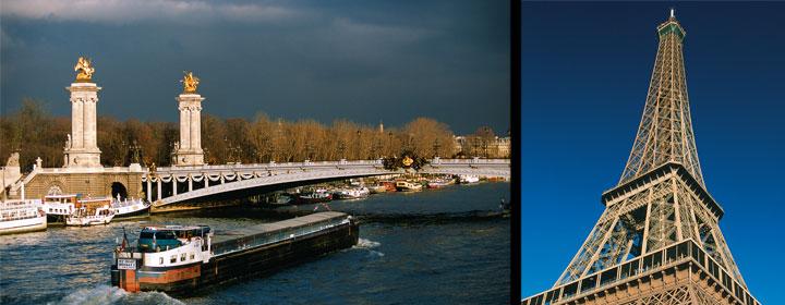 Puente de Alejandro III y Torre Eiffel © Paris Tourist Office