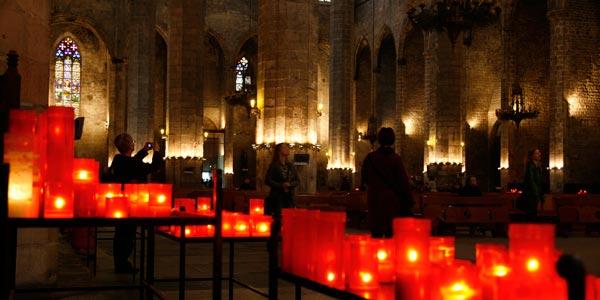 Interior de la Iglesia de Santa María del Mar