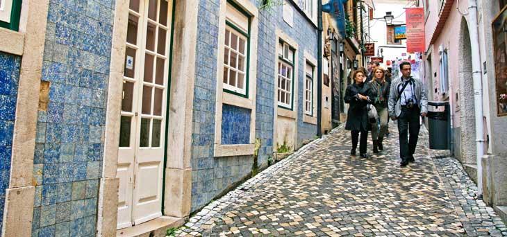 Rua Padarias, una de las calles más famosas de Sintra/Foto María Jesús Tomé