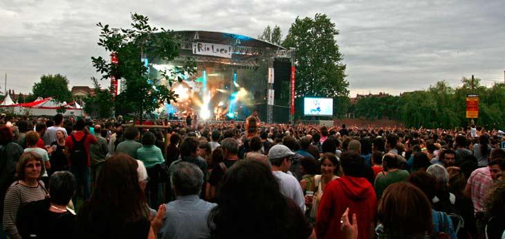 Escenario de la Prairie des Filtres del Festival Rio Loco