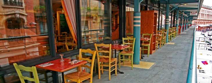 Restaurantes de la planta superior del mercado Víctor Hugo