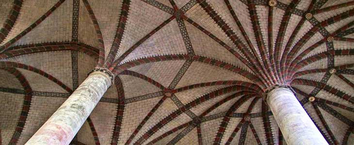 Interior del Convento de los Jacobinos. En su interior destaca una palmera con 22 nervaduras