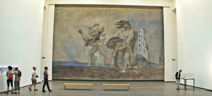 El despojo del minotauro con traje de Arlequín, obra de Picasso