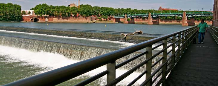 Río Garona desde los jardines de Raymond VI