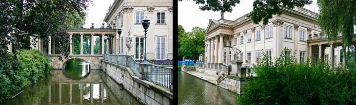 Palacio en el Agua, en el parque Lazienki