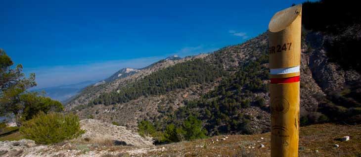 El sendero GR-7 recorre algo más de 200 km. de la provincia de Jaén/Foto Promojaen