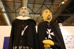 Miguel de Cervantes y un Caballero de la Orden de San Juan