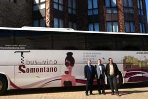 Barcelona y la comarca del Somontano unidas por el bus del vino