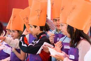 Taller dedicado a los niños en la Feria de los Sabores de Alcázar de San Juan