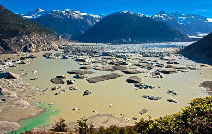 Final del Glaciar Colonia y nacimiento del río del mismo nombre/Foto Ronny Belmar