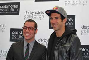 Joaquimi Clos, de Derby Hotels Collection, con el triatleta y trader Josef Ajram
