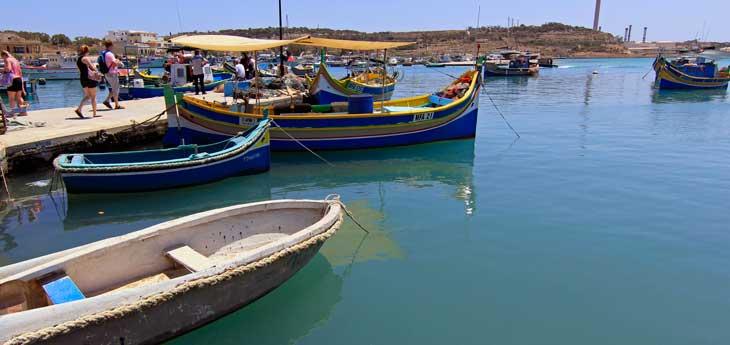 Puerto del pueblo marinero de Marsaxlokk/Foto María Jesús Tomé