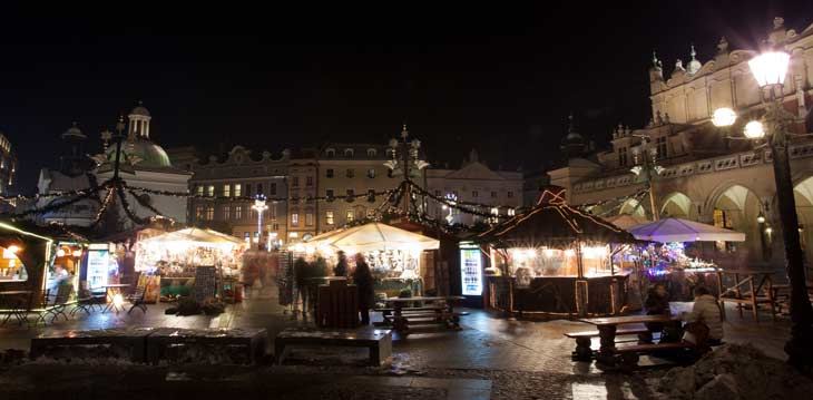 Mercado de Navidad de Cracovia/Foto: Oficina Nacional de Turismo de Polonia