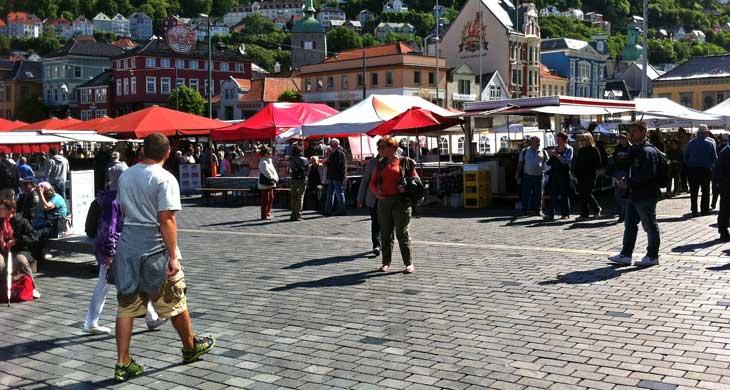 Fisketorget, el mercado del pescado de Bergen/Foto María Jesús Tomé
