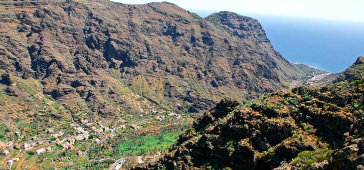 Vista de Valle Gran Rey desde el Mirador del Palmarejo o de César Manrique/Foto María Jesús Tomé