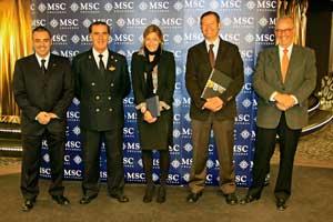 Presentación oficial del MSC Preziosa en Barcelona