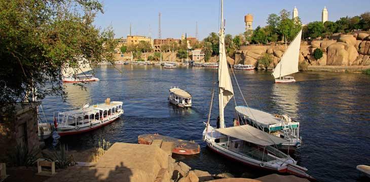El río Nilo desde la localidad de Asuán/Foto Juan Coma