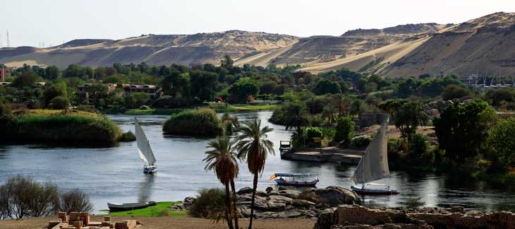 Vistas del Nilo desde la Isla Elefantina/Foto Juan Coma