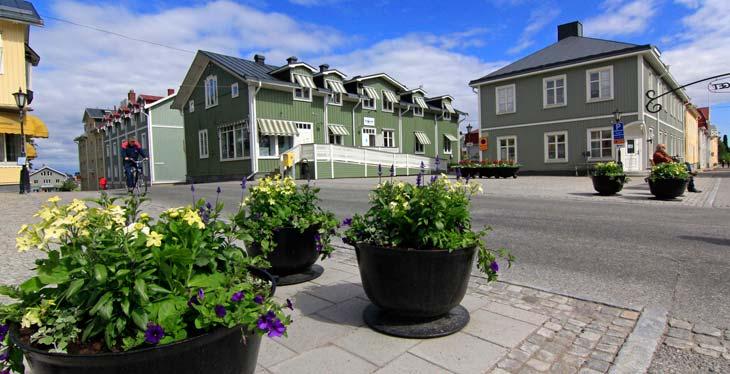 Centro de Piteå, la ciudad más grande a orillas del Golfo de Botnia