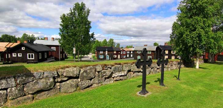 Öjebyn Kyrkstad, barrio de casas de madera Piteå