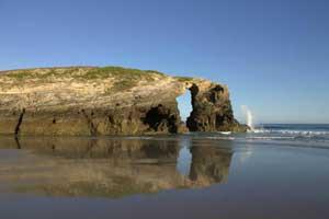 Playa de las Catedrales, en Ribadeo, Lugo