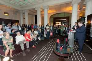 Un momento de la presentación de ayer de la Ruta del Vino de Rioja Alavesa en el Hotel Casa Fuster