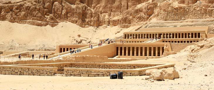 Entrada al Templo de Hatshepsut/Foto Juan Coma
