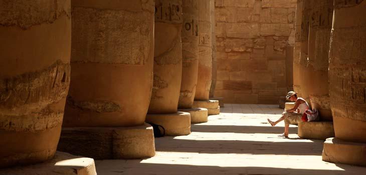Sala hipóstila del templo de Karnak/Foto Juan Coma