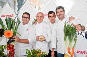 Toño Pérez elabora de enero a junio de 2013 los menús de la clase Business Plus de Iberia