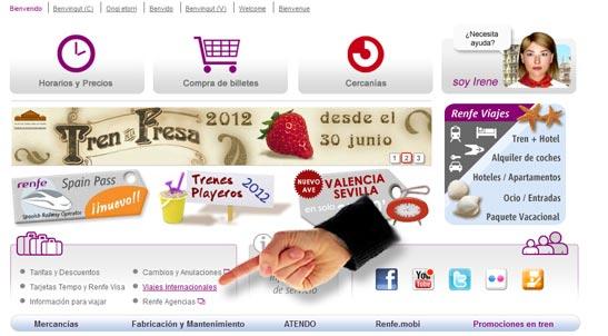 Comprar billetes de TGV en www.renfe.com