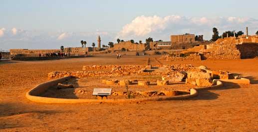 Restos del anfiteatro de Cesarea (hipódromo)