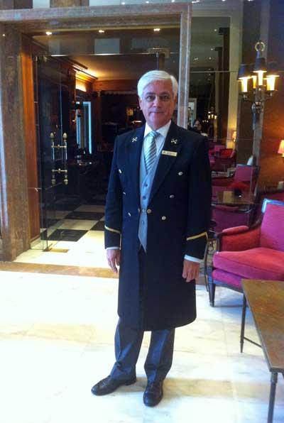 José Diogo, del Hotel Palácio de Estoril, tuvo un pequeño papel en