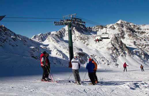 Esquiadores en Vallnord