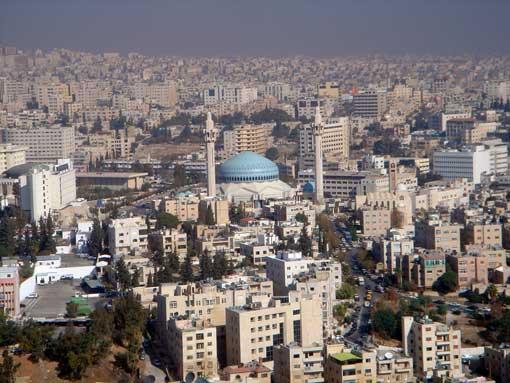 Vistas de la Mezquita de Abdalá I, en Amán