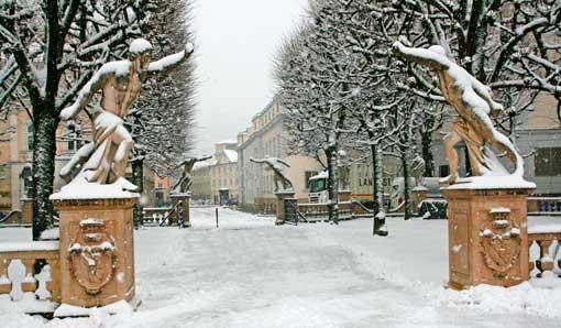 Entradas a los jardines de Mirabell, en Salzburgo