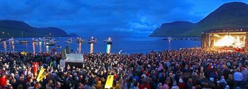 En verano se celebran muchos festivales en las Islas Feroe